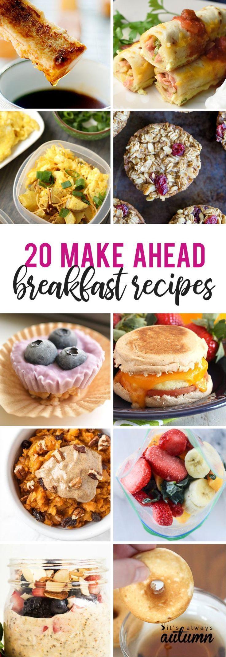 Photo of 20 make ahead breakfast ideas for busy school mornings – It's Always Autumn