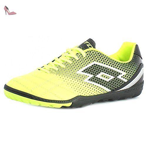 Lotto Spider 700 XIII TF, Chaussures de Football Homme,  Multicolore-Amarillo / Negro