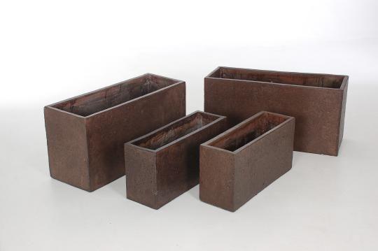 4er set pflanztr ge aus beton faserbeton por s maxi 80 60cm braun blumenk bel aus. Black Bedroom Furniture Sets. Home Design Ideas