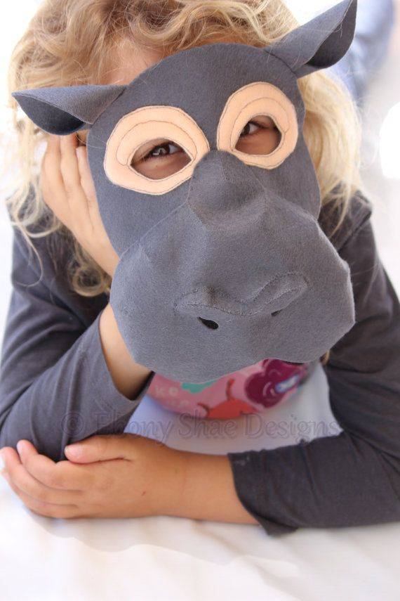 I want a Hippopotamus for Christmas! Create your own Hippo mask or hippopotamus  costume with our simple to follow mask sewing pattern.   Soft felt 738d6e087d8e
