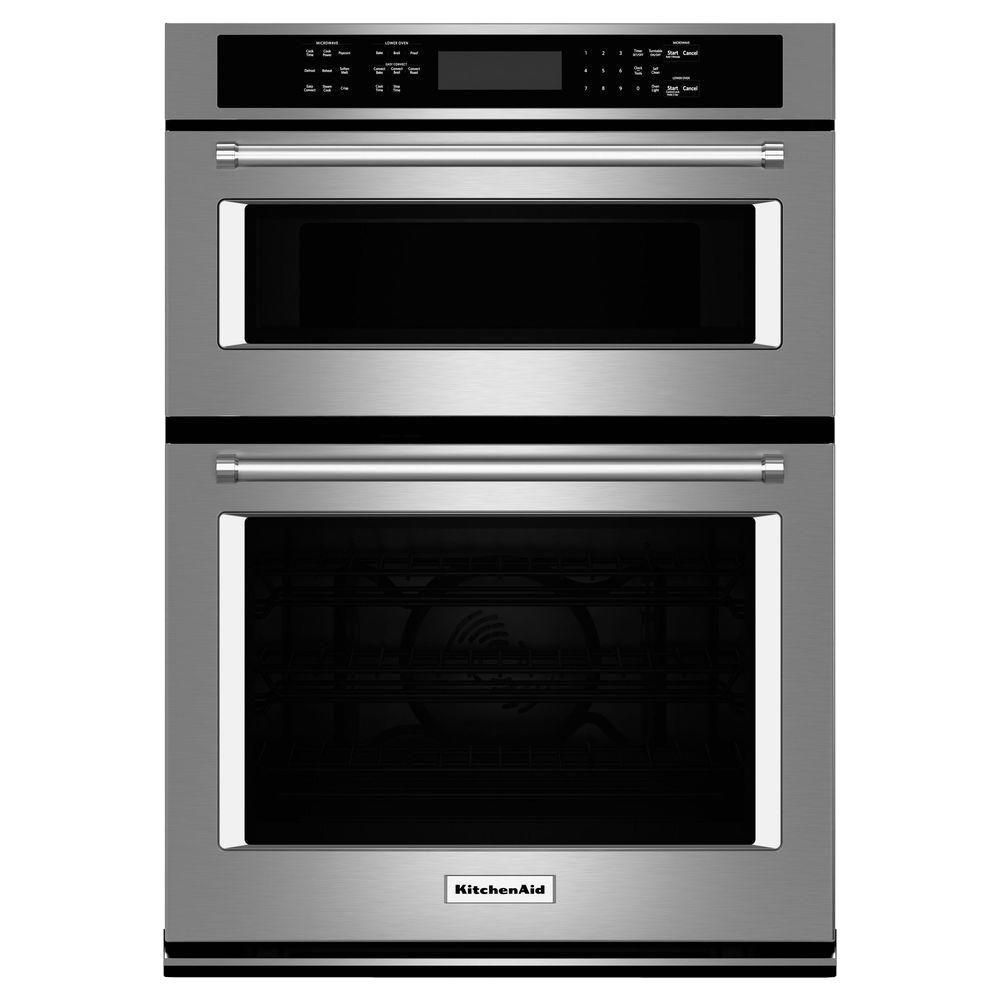 Kitchenaid 27 In Electric Even Heat True Convection Wall Oven