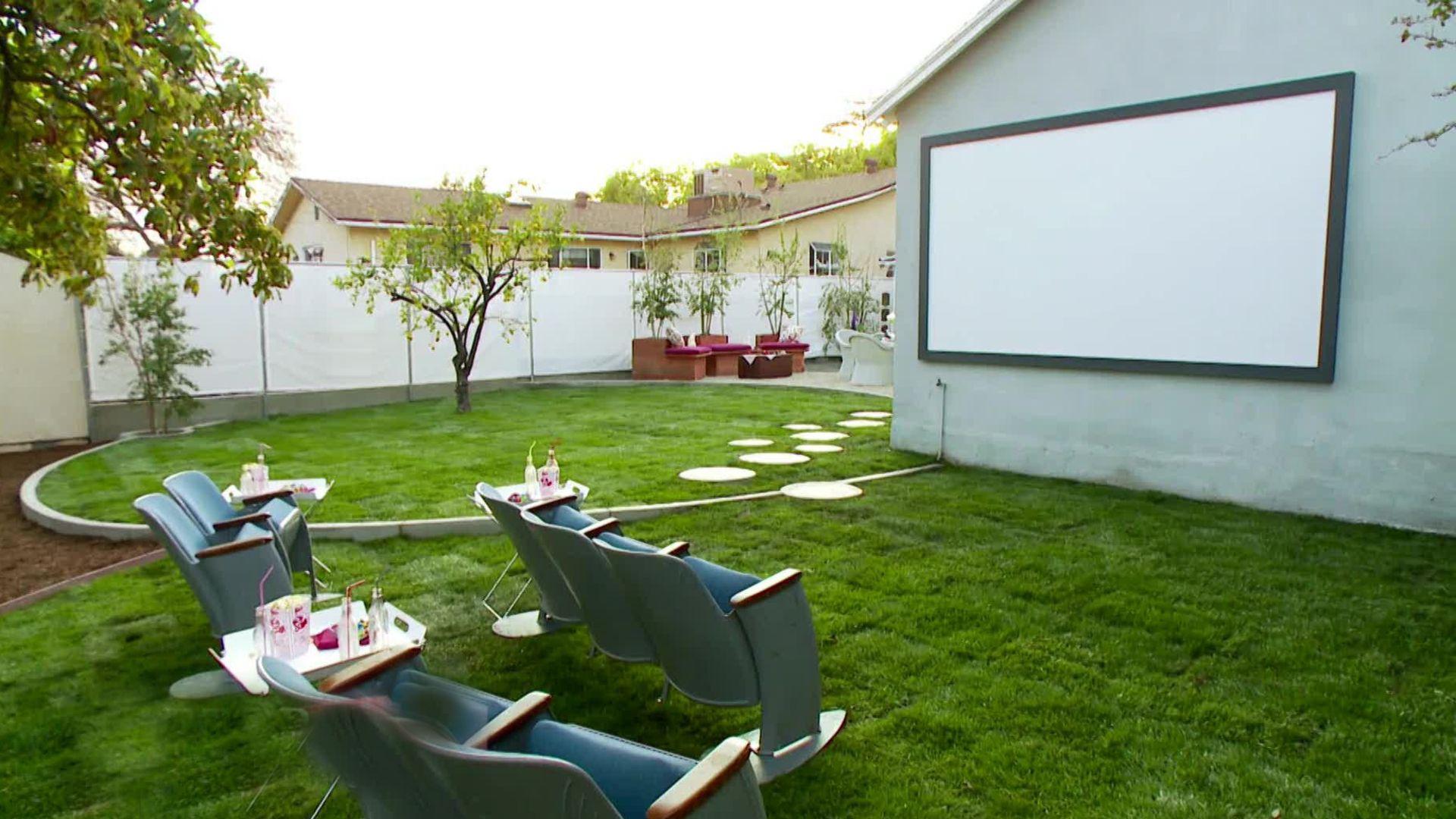 backyard theater ideas