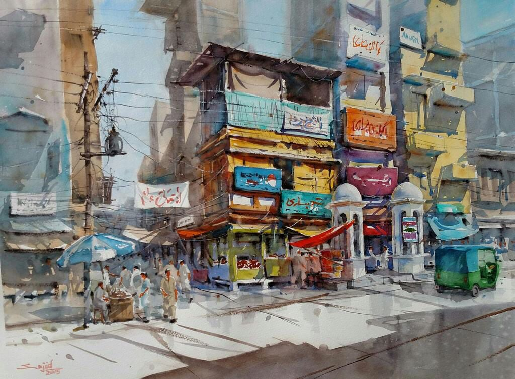 Kissa Khawani Bazaar Peshawar Painting Watercolour Inspiration