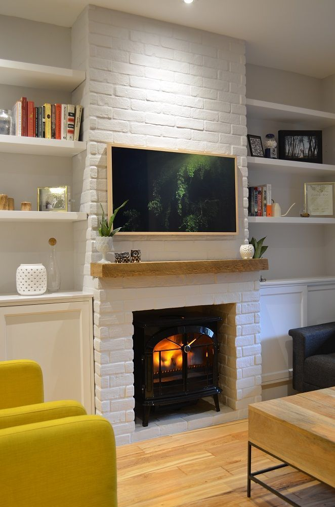 New Pic reclaimed Brick Fireplace Ideas Neuer alter Kamin in im Stadtzentrum gelegenem Toronto
