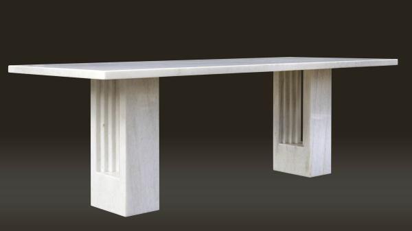 CARLO SCARPA (1906-1978) et MARCEL BREUER - Table de salle à manger - table de salle a manger grise