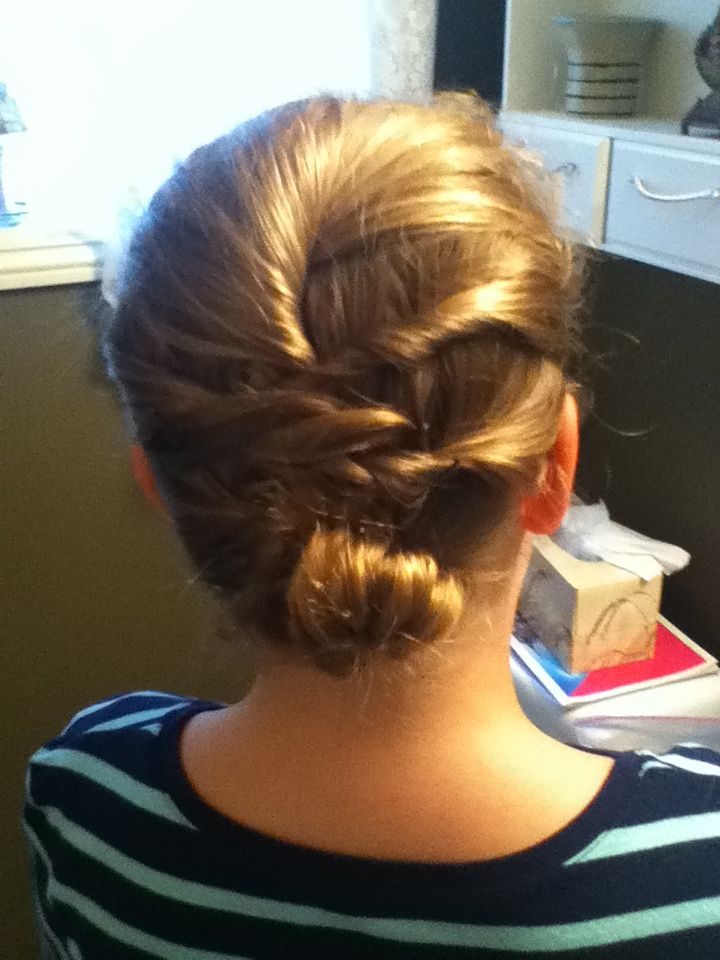 Hairstyle with spiral bobby pins