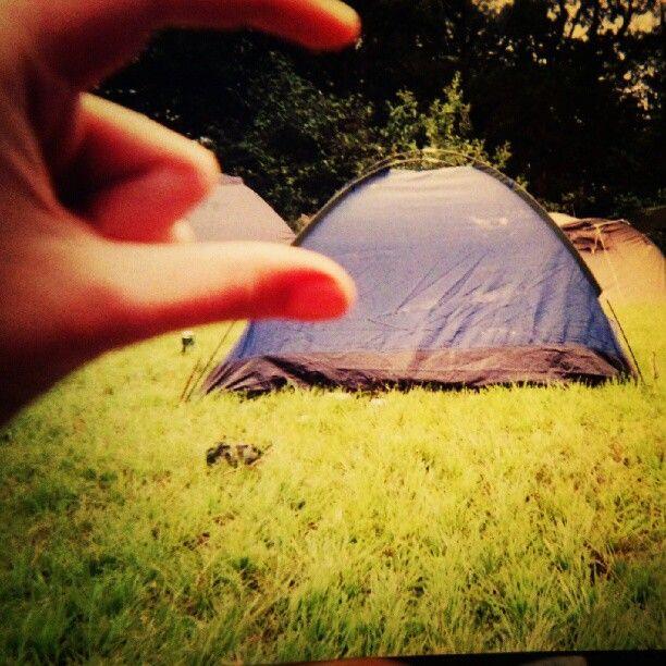 Miniteltet til naboen på #stavernfestivalen.   #festival #camping #summer - @jorddiz- #webstagram