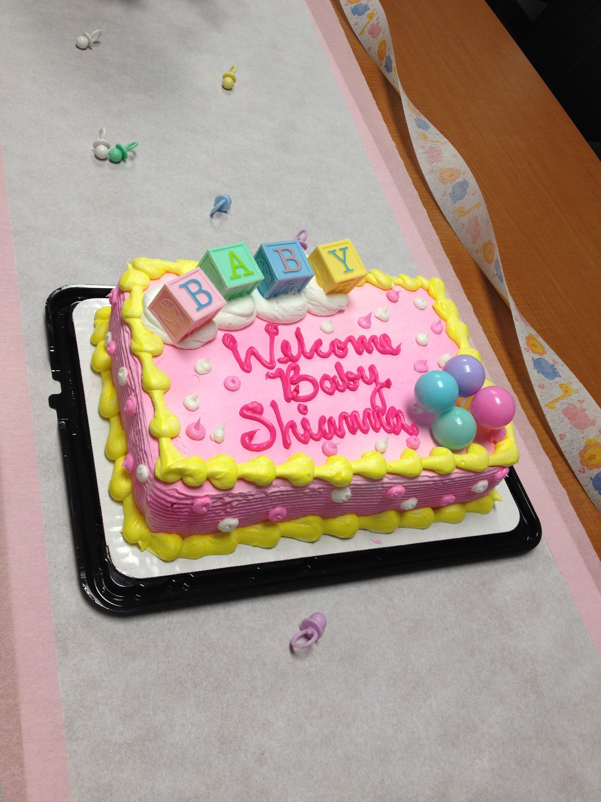 Cute Baby Shower Cake For A Girl :)