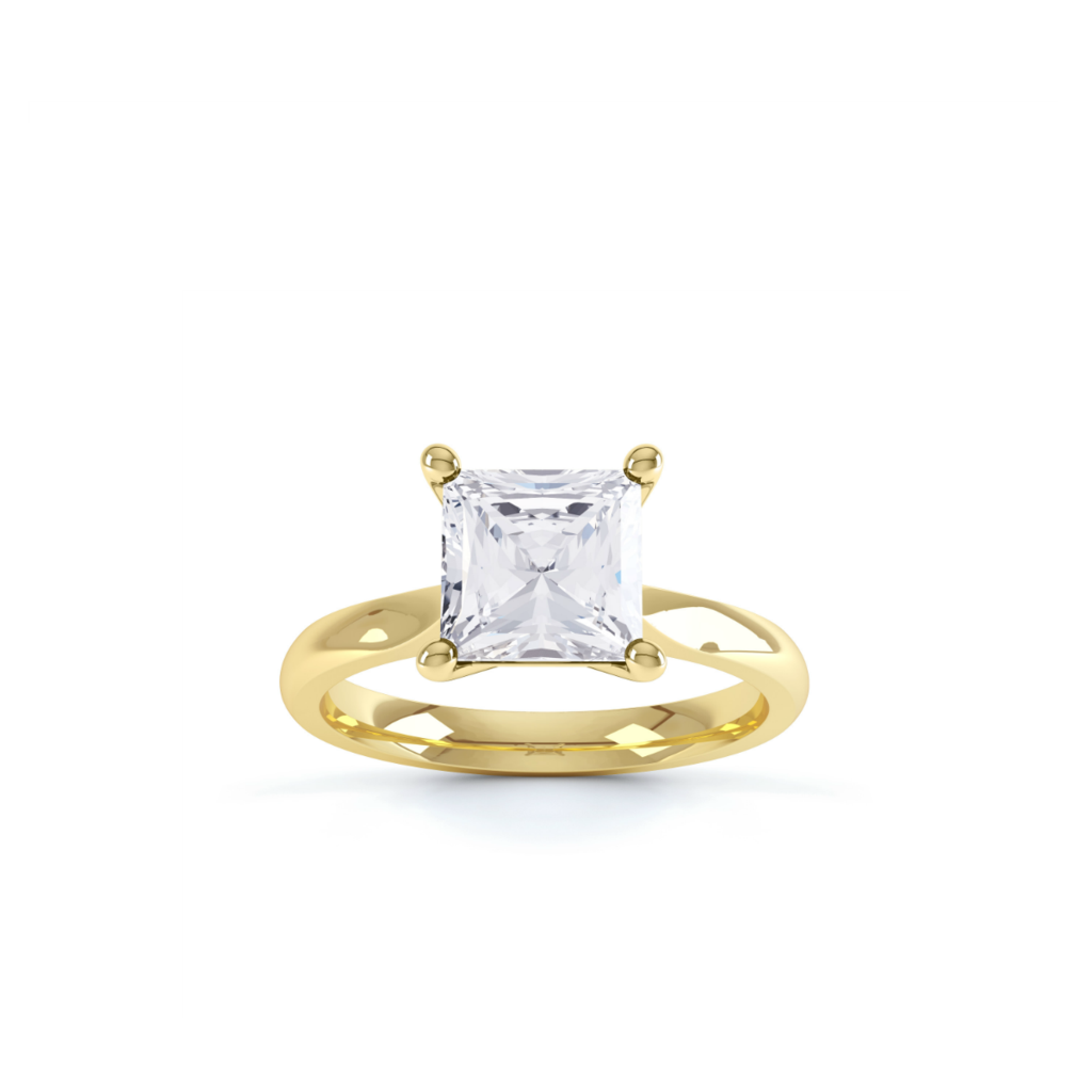 This is the ring this simply stunning k yellow gold solitaire