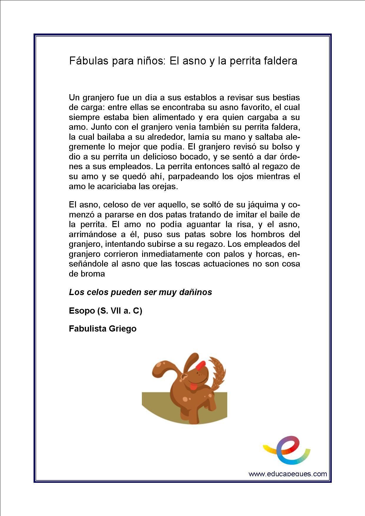 Comprensión lectora en niños de primaria: ▷ Fábulas para compresión ...