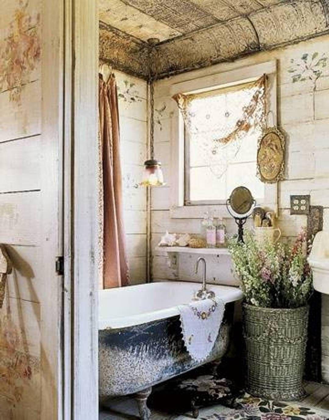 Primitive Country Bathroom Ideas Google Search Romantic Bathrooms Shabby Chic Bathroom Decor Country Style Bathrooms