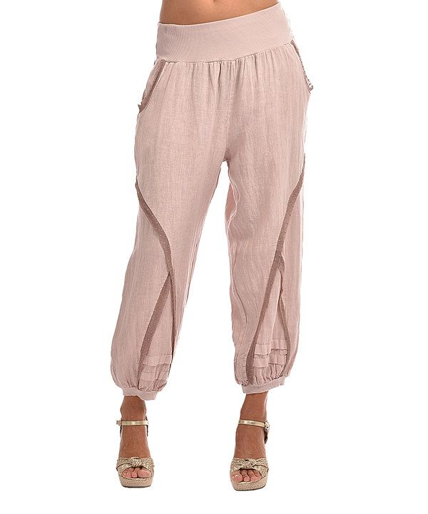 Look At This Couleur Lin Light Pink Linen Harem Pants On #zulily Today!