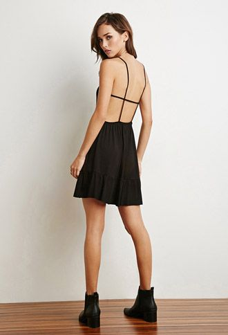 38dcffa553 Strappy Open-Back Cami Dress