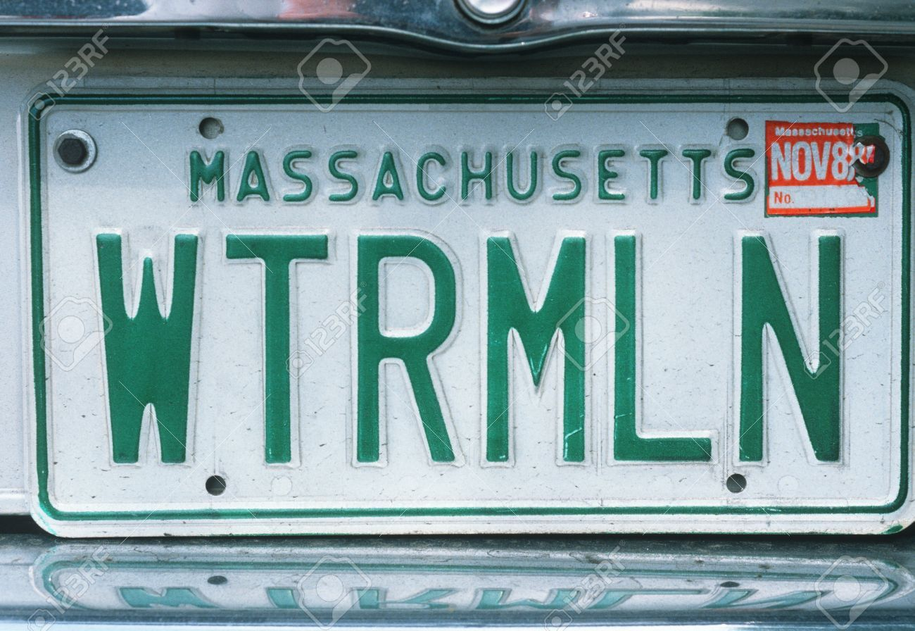 Picture Of Vanity License Plate