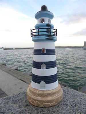 By the Sea Lighthouse Tea Light Holder Kate Aspen 14037WT
