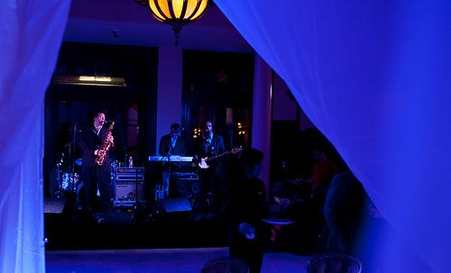 Austin Texas Event, Room Wash, Uplighting, Chandeliers, Drapery Lighting, Purple,