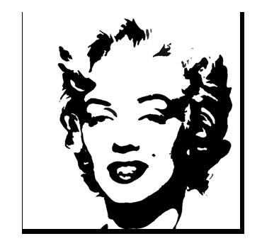 Marilyn Monroe MYLAR STENCIL Icon LEGEND paint wall art 125//190 micron A4//A3