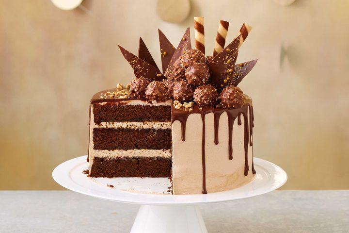 Miraculous Choc Hazelnut Drip Cake Recipe With Images Drip Cakes Choc Funny Birthday Cards Online Alyptdamsfinfo
