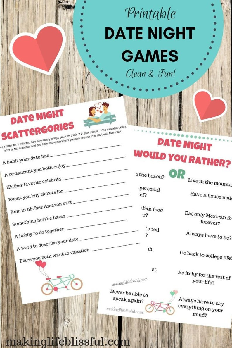 Date Night Games for Couples (Clean & Fun Couple Games