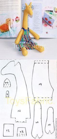 Tilda Giraffe pattern + tutorial / Шьем игрушечного жирафа в стиле ...