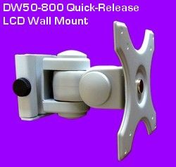 Lcd Wall Mount With A 100 X 100 And 75 X 75 Vesa Hole Pattern Easily Install To Wall And Release In Seconds Titls Swivel Vesa Bracket Wall Mount Bracket Lcd