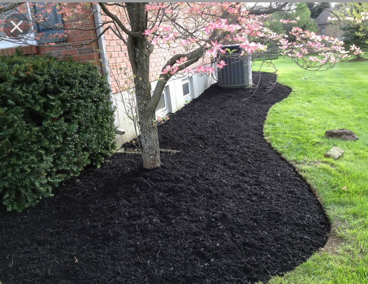 Black Bark Mulch Black Rock Landscape Yards Gardens Flowers Black Mulch