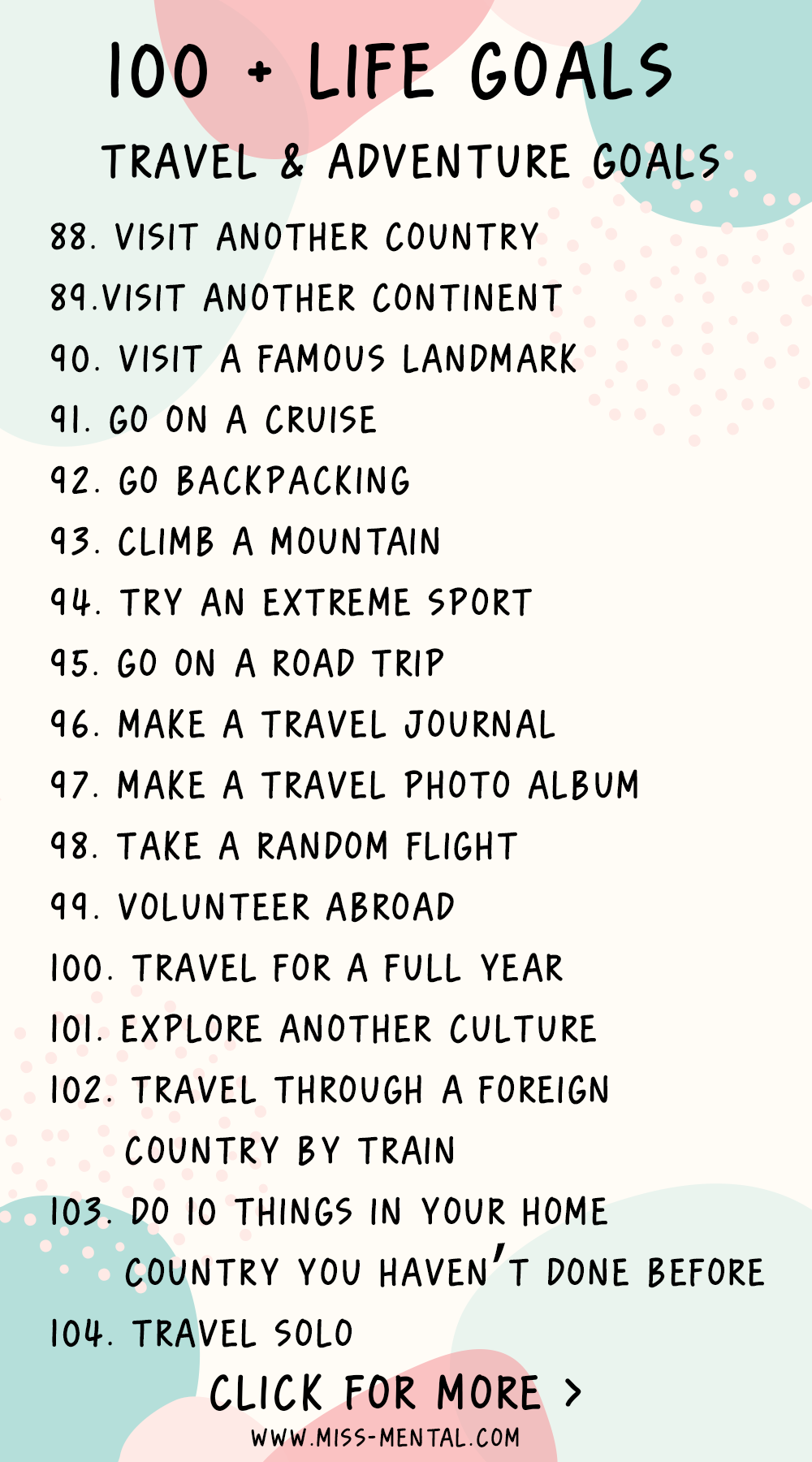 20 + life goals with free printable goal planner   Life goals ...