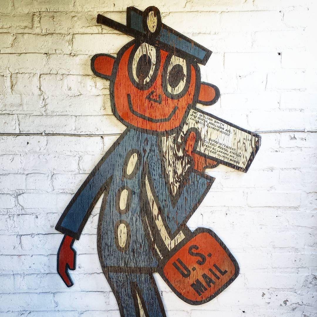 Happy Friday from Mr. Zip! #mrzip #happyfriday #zipcode #mail #postman #1960s #mailcarrier #postoffice #stickfigure