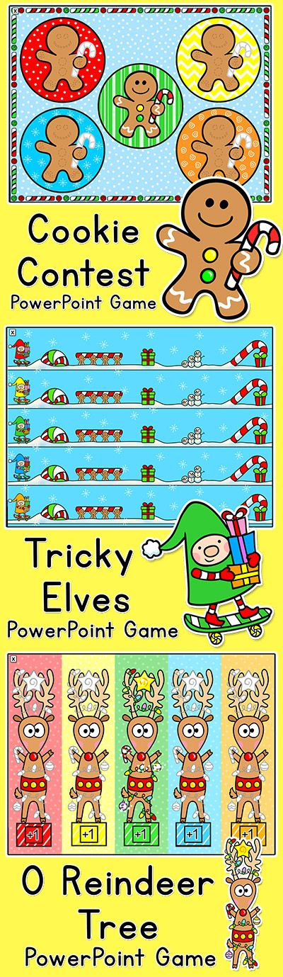 Christmas Games to Review Any Subject Elf & Gingerbread