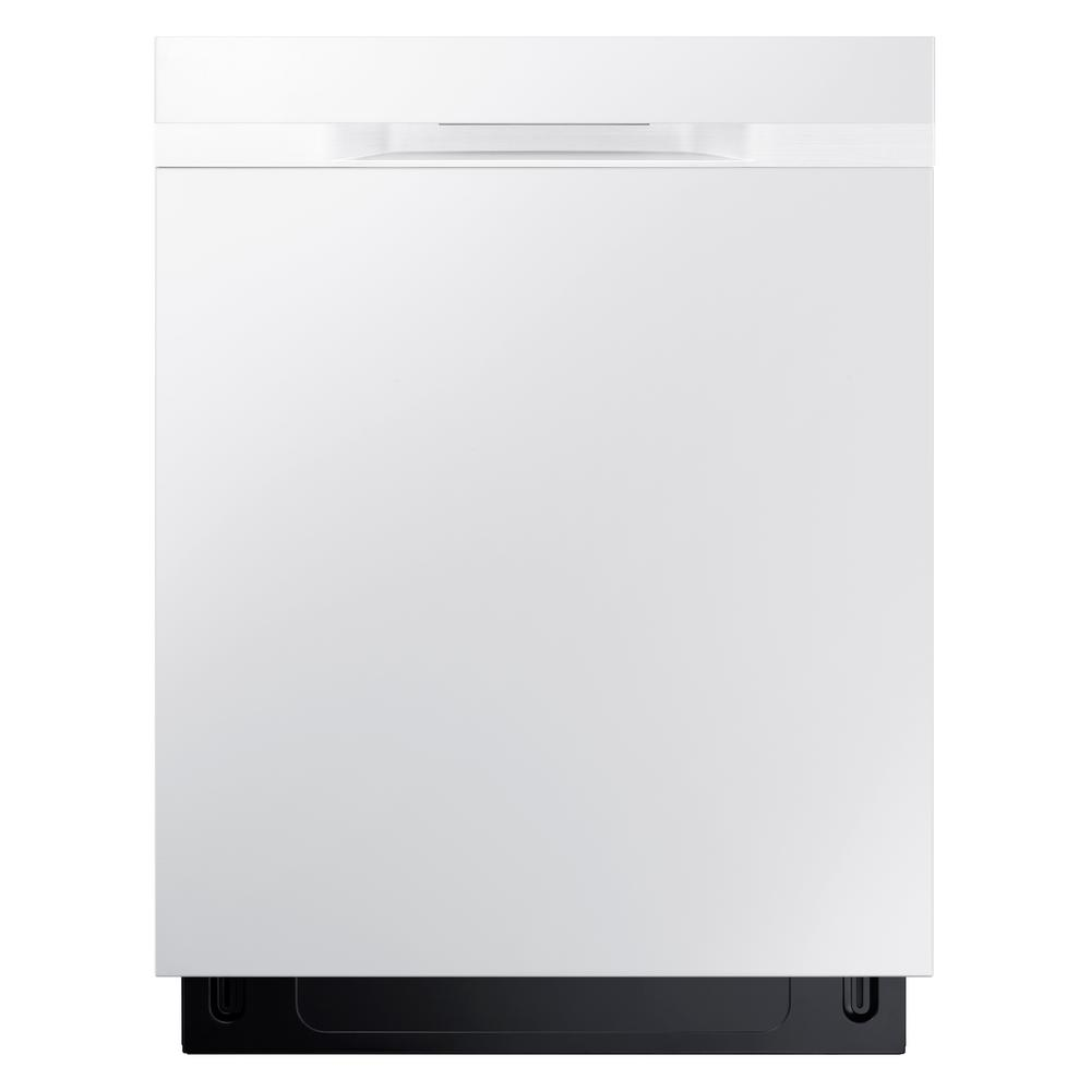 Samsung 24 In Top Control Stormwash Dishwasher In White With Stainless Steel Tub And Autorelease Dry 48 Dba D Steel Tub Samsung Dishwasher Built In Dishwasher