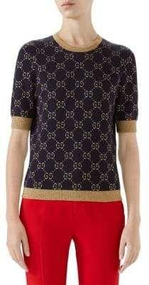 79b3f3d57 Gucci GG Cotton Lurex Knit | Люрекс in 2019 | Gucci, Gucci designer ...