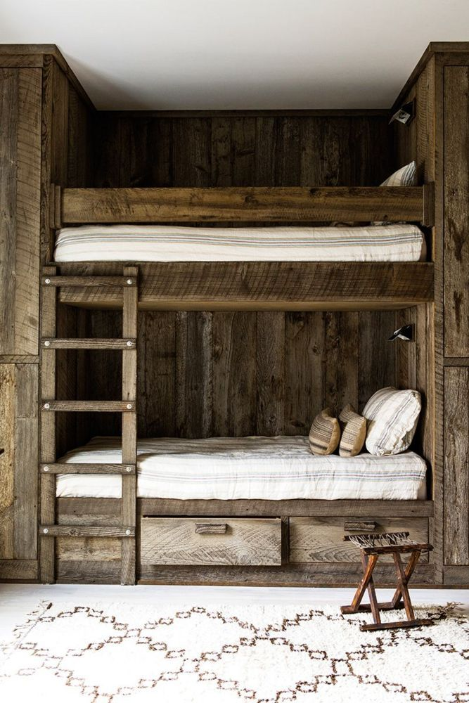 Jenni Kayne And Her Home In Lake Tahoe Rustic Bunk Beds