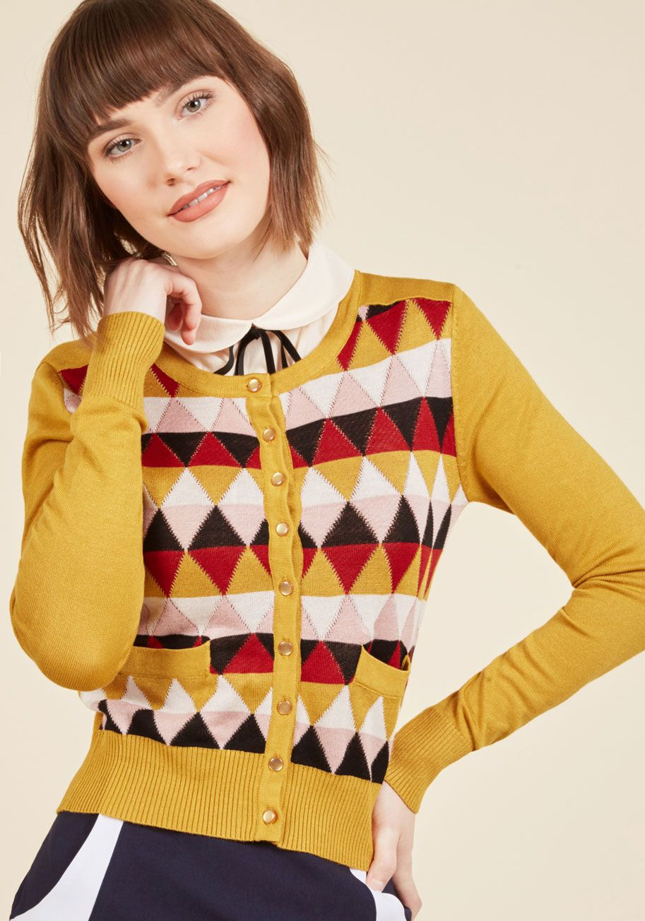 Standout of this World Cardigan in Wonderland | Turmeric, Knit ...