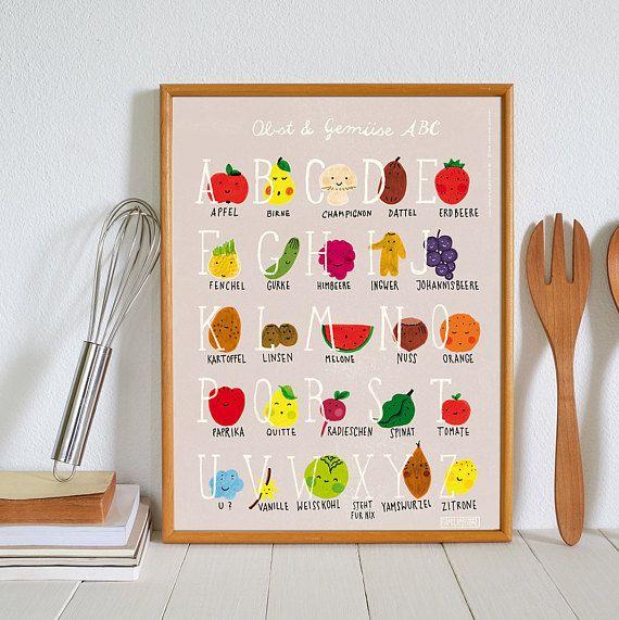 Poster Küche 30 x 40 cm, Küchenposter, kitchen print, poster abc ...