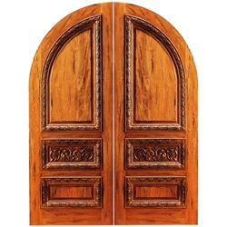 Elegant Arch top Double Entry Doors