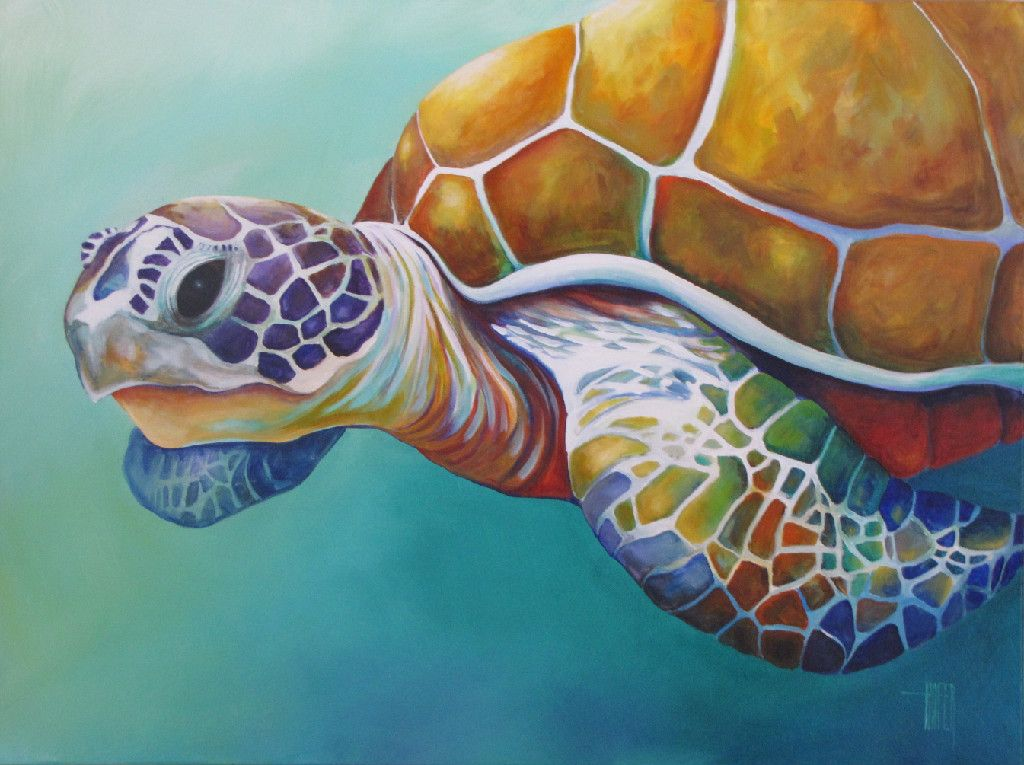 Under the ocean surface painting google search art for Turtle fish paint