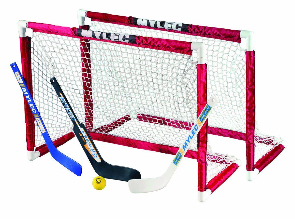 Amazon Com Mylec Deluxe Mini Goal Set Hockey Goals Sports Outdoors Hockey Goal Hockey Goals Goalie Stick
