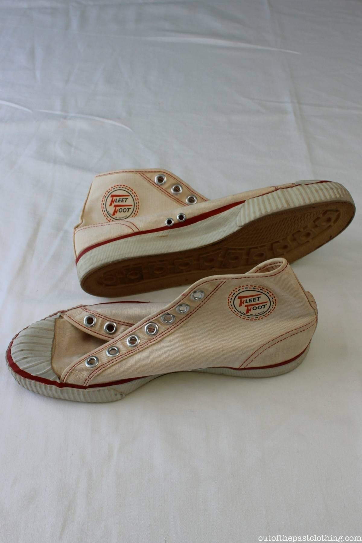 Fleet Foot Canadian Vintage 1940s High Top Canvas Shoes Fleet Feet Vintage Shoes Fleet Feet Shoes