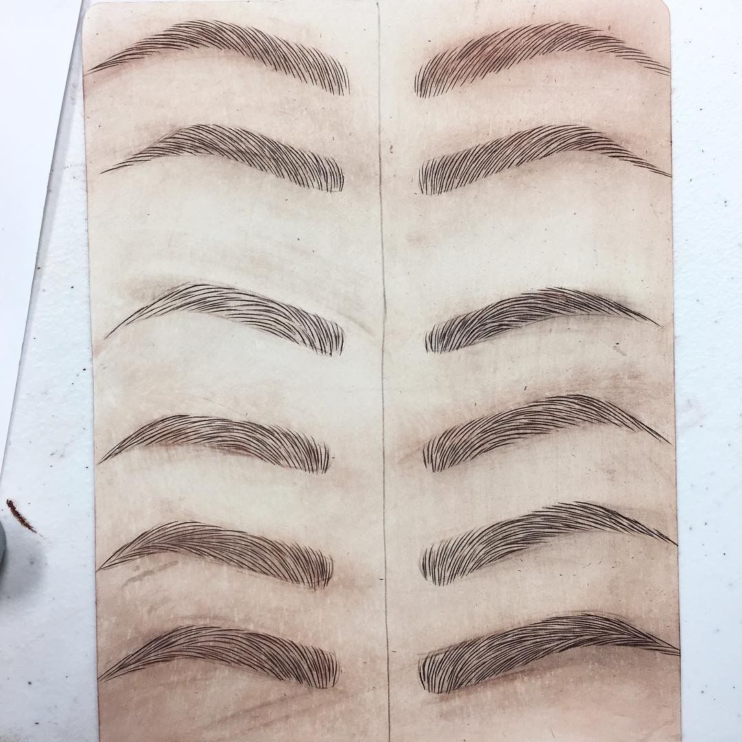 Microblading practice pinteres for How is microblading different to tattooing