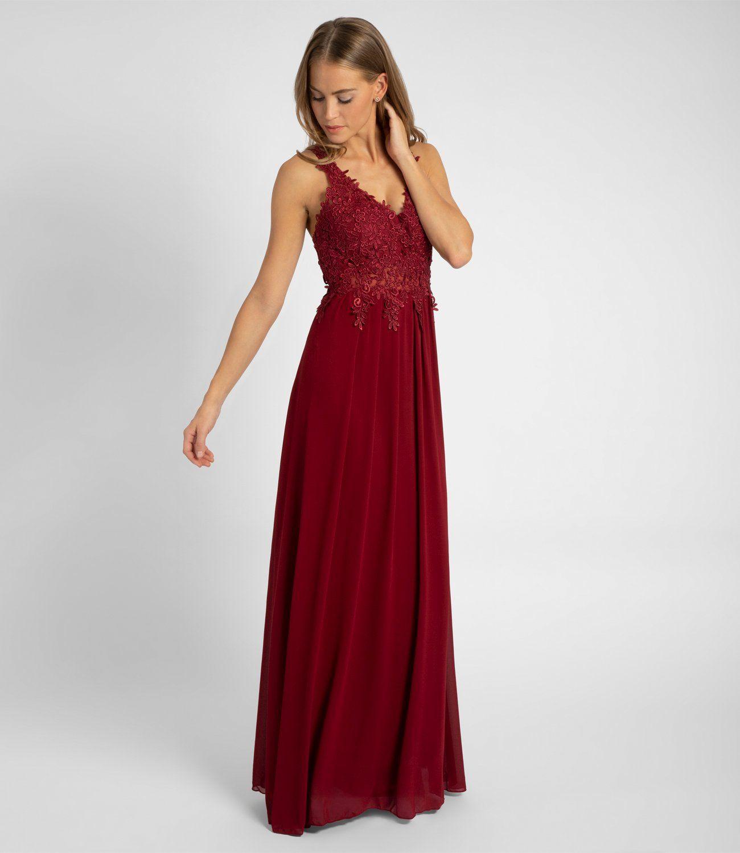 abendkleid bordeaux lang in 2020 | formal dresses, fashion