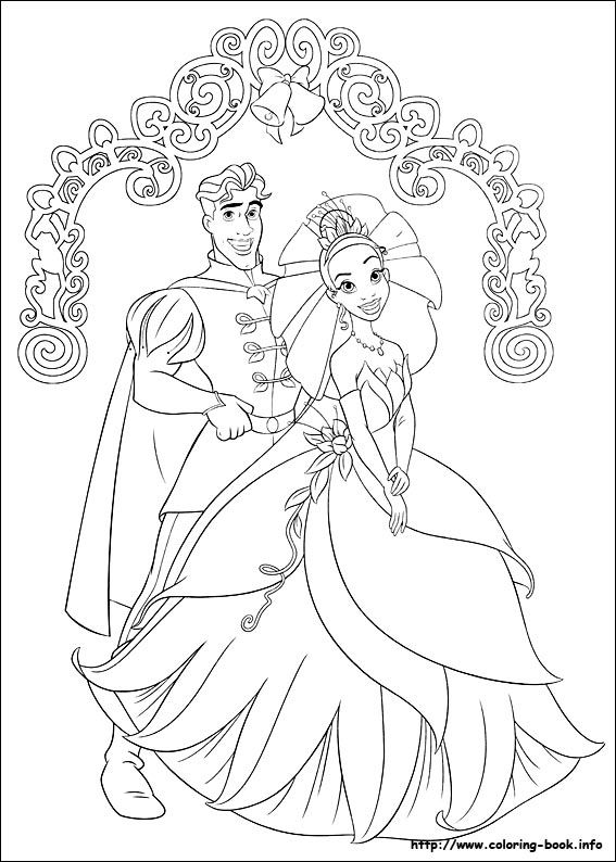 The Princess And The Frog Coloring Picture Frog Coloring Pages Princess Coloring Pages Wedding Coloring Pages