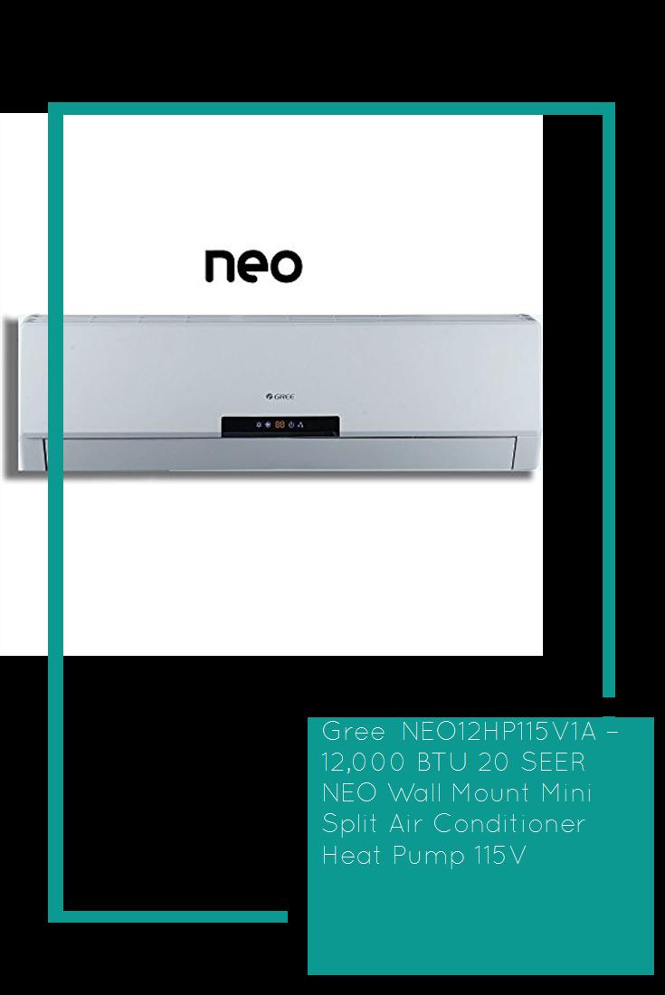 Gree Neo12hp115v1a 12 000 Btu 20 Seer Neo Wall Mount Mini Split Air Conditioner Heat Pump 115v