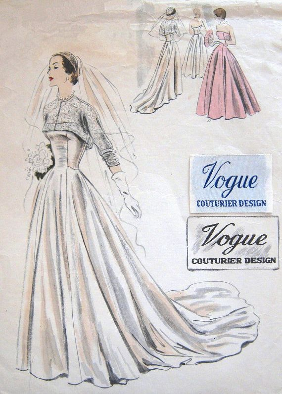 STUNNING Vintage Vogue 545 Couturier Design 1950s by PatternGal ...