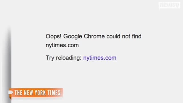 VIDEO: New York Times Website Crashes, Media Goes Into Frenzy - http://uptotheminutenews.net/2013/08/14/top-news-stories/video-new-york-times-website-crashes-media-goes-into-frenzy/