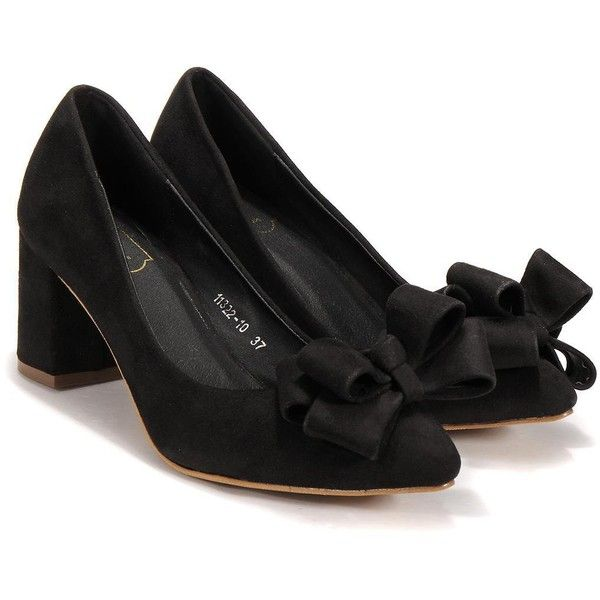 Yoins Yoins Chunky Heeled Shoes (120 BRL) ❤ liked on Polyvore featuring shoes, yoins, heels, chunky heel shoes, thick heel shoes and wide heel shoes