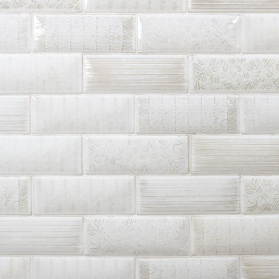 Maverick Natural 3x8 Textured Mix Pillowed Ceramic Tile