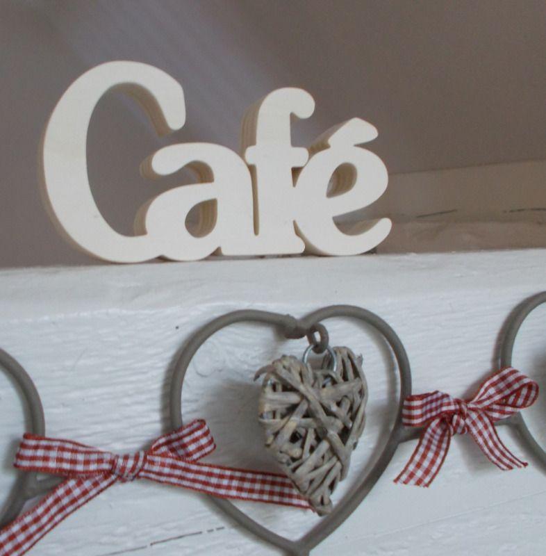 Mot décoratif en bois Café - décoration murale - Bois \ Pu0027tits - tour a bois fait maison