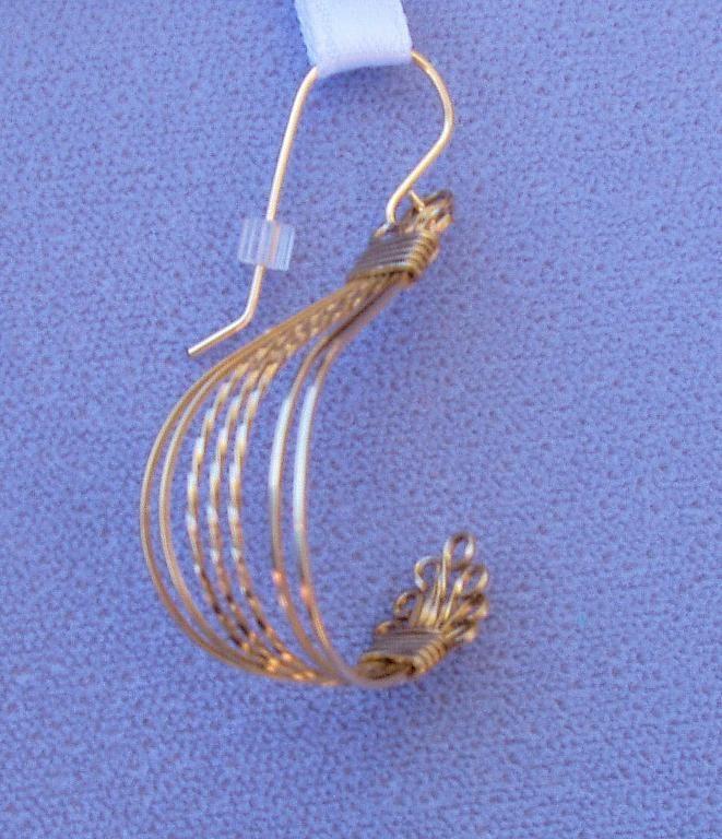 Wire Wrap Vintage Style All Wire Earring   Wire earrings, Patterns ...