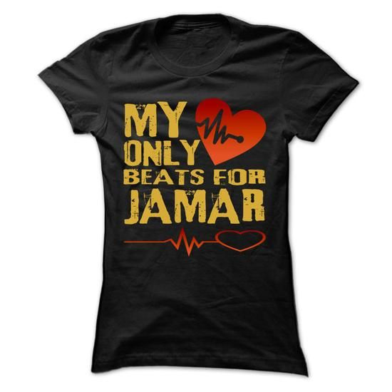 My Heart Only Beat For JAMAR Cool Shirt !!! - #gift card #photo gift. SECURE CHECKOUT => https://www.sunfrog.com/Holidays/My-Heart-Only-Beat-For-JAMAR-Cool-Shirt-.html?68278