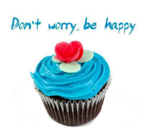 Sé feliz y disfruta de un cupcake :)